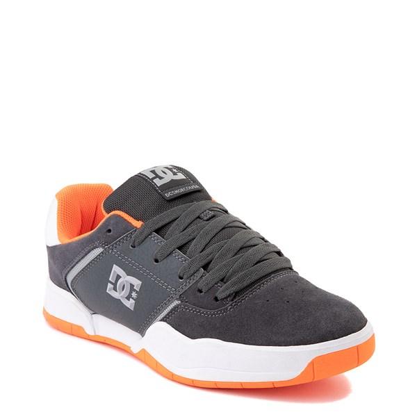 alternate view Mens DC Central Skate Shoe - Dark Gray / OrangeALT1