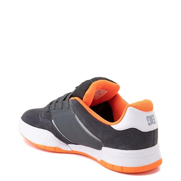 alternate view Mens DC Central Skate Shoe - Dark Gray / OrangeALT2
