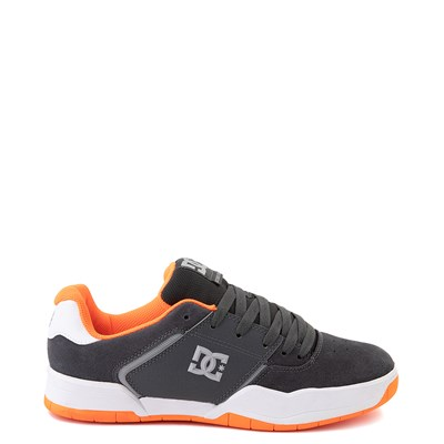 Main view of Mens DC Central Skate Shoe - Dark Gray / Orange