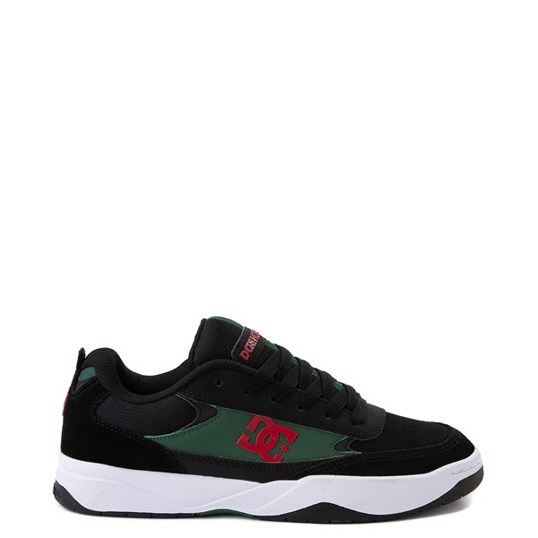 Mens DC Penza Skate Shoe - Black / Red / Green