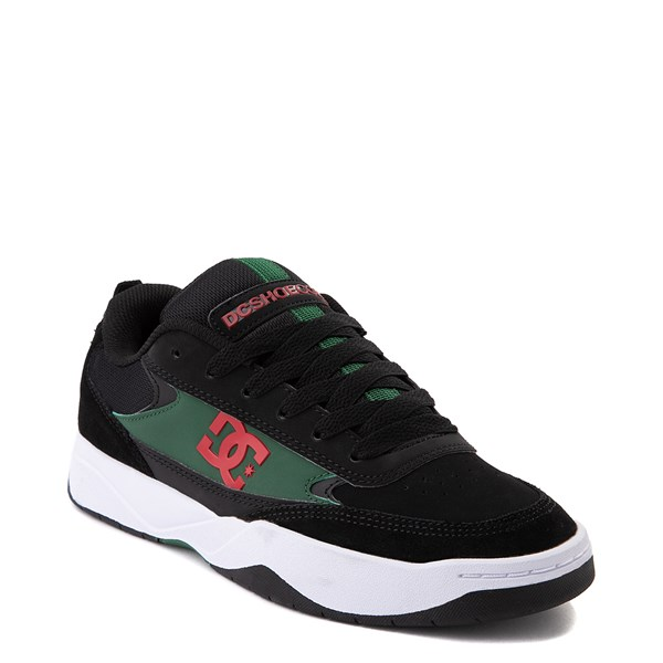 alternate view Mens DC Penza Skate Shoe - Black / Red / GreenALT1