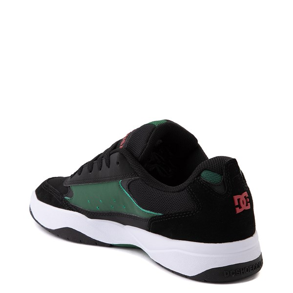 alternate view Mens DC Penza Skate Shoe - Black / Red / GreenALT2