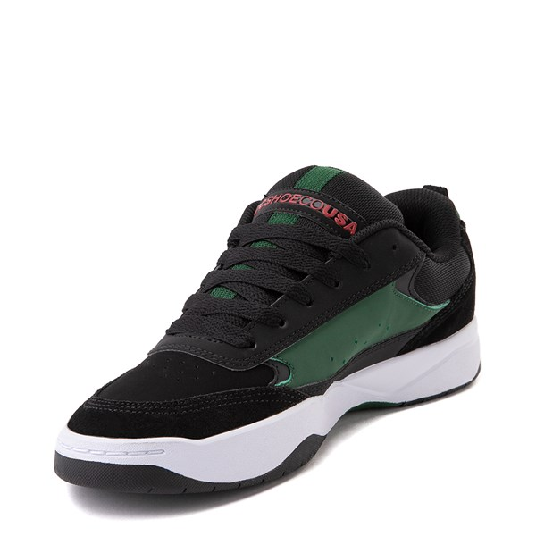 alternate view Mens DC Penza Skate Shoe - Black / Red / GreenALT3