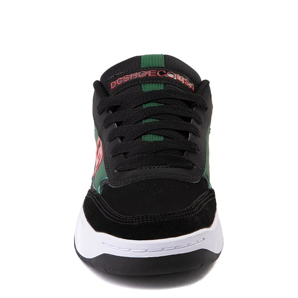 alternate view Mens DC Penza Skate Shoe - Black / Red / GreenALT4