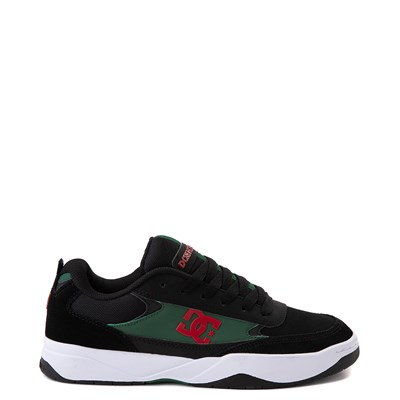 Main view of Mens DC Penza Skate Shoe - Black / Red / Green