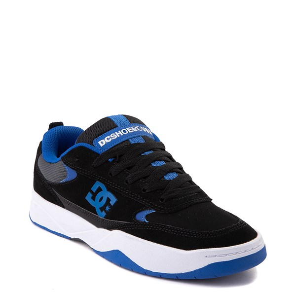 alternate view Mens DC Penza Skate Shoe - Black / Nautical BlueALT1