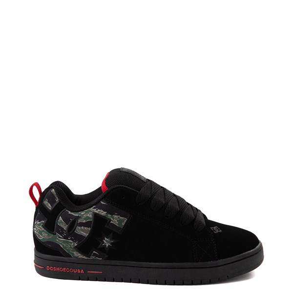 Mens DC Court Graffik SE Skate Shoe - Black / Camo