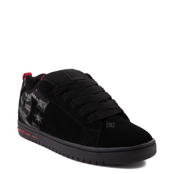 alternate view Mens DC Court Graffik SE Skate Shoe - Black / CamoALT1