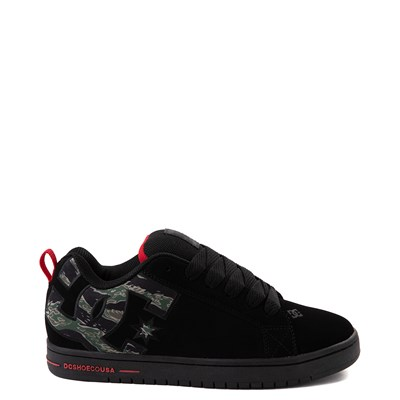 Main view of Mens DC Court Graffik SE Skate Shoe - Black / Camo