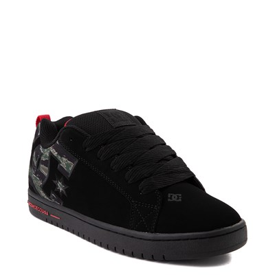 Alternate view of Mens DC Court Graffik SE Skate Shoe - Black / Camo
