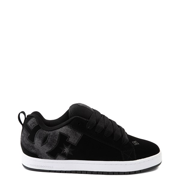 Mens DC Court Graffik SE Skate Shoe - Black / Black Denim