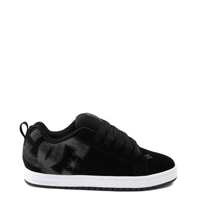 Main view of Mens DC Court Graffik SE Skate Shoe - Black / Black Denim