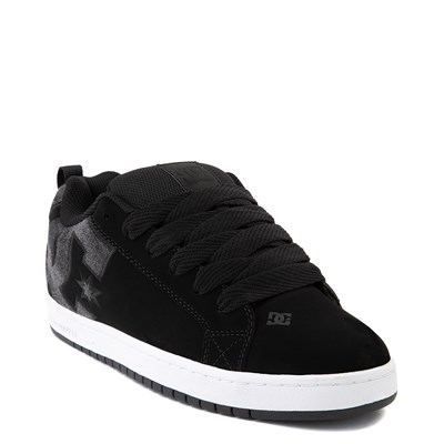 Alternate view of Mens DC Court Graffik SE Skate Shoe - Black / Black Denim