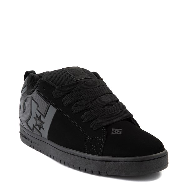 alternate view Mens DC Court Graffik Skate Shoe - Black / GrayALT1