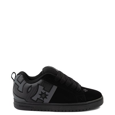 Main view of Mens DC Court Graffik Skate Shoe - Black / Gray