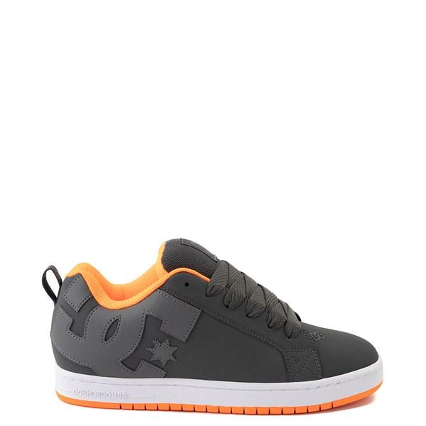 Mens DC Court Graffik Skate Shoe - Dark Gray / Orange