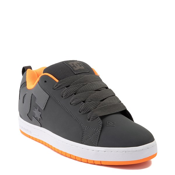 alternate view Mens DC Court Graffik Skate Shoe - Dark Gray / OrangeALT1