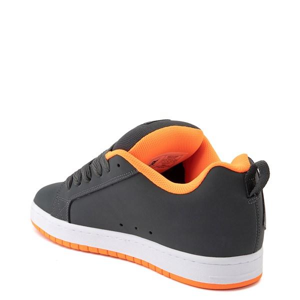 alternate view Mens DC Court Graffik Skate Shoe - Dark Gray / OrangeALT2