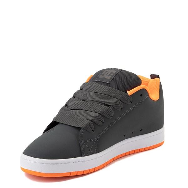 alternate view Mens DC Court Graffik Skate Shoe - Dark Gray / OrangeALT3