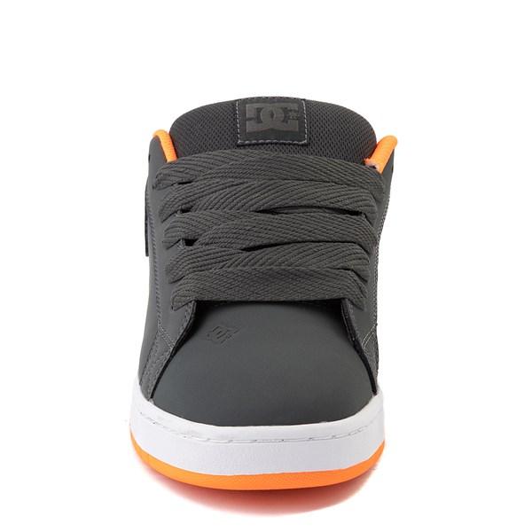 alternate view Mens DC Court Graffik Skate Shoe - Dark Gray / OrangeALT4