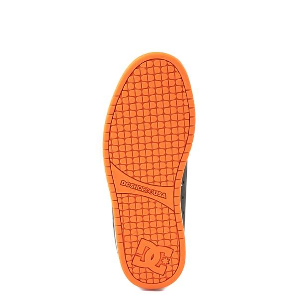 alternate view Mens DC Court Graffik Skate Shoe - Dark Gray / OrangeALT5