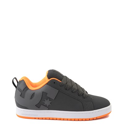 Main view of Mens DC Court Graffik Skate Shoe - Dark Gray / Orange