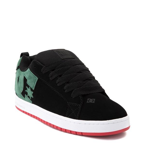alternate view Mens DC Court Graffik Skate Shoe - Black / GreenALT1
