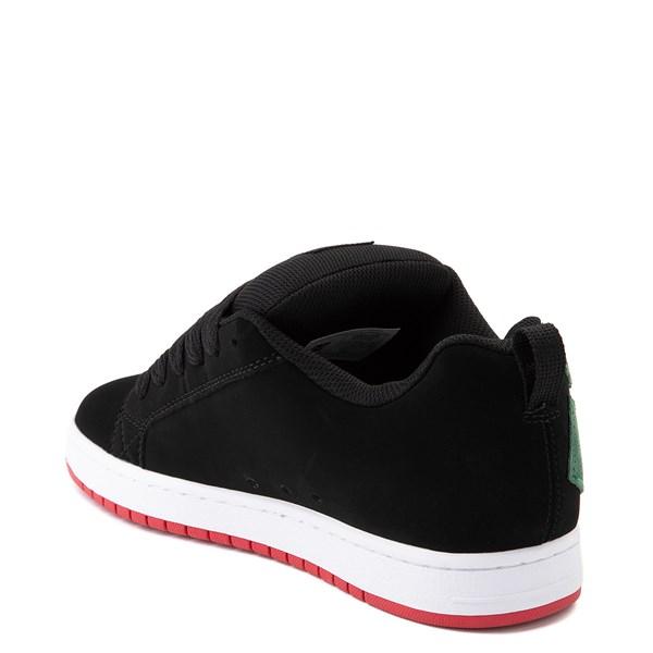 alternate view Mens DC Court Graffik Skate Shoe - Black / GreenALT2