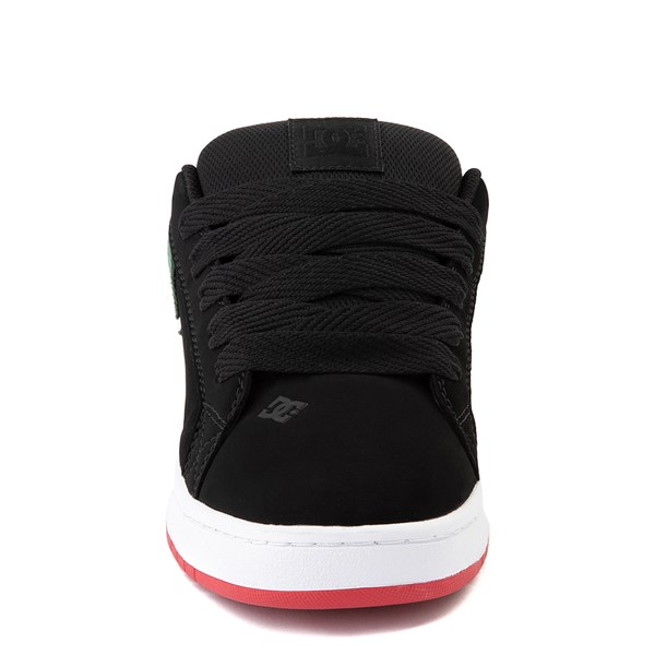 alternate view Mens DC Court Graffik Skate Shoe - Black / GreenALT4