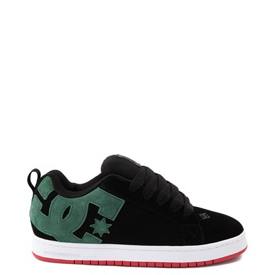 Main view of Mens DC Court Graffik Skate Shoe - Black / Green