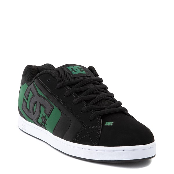 alternate view Mens DC Net Skate Shoe - Black / GreenALT1