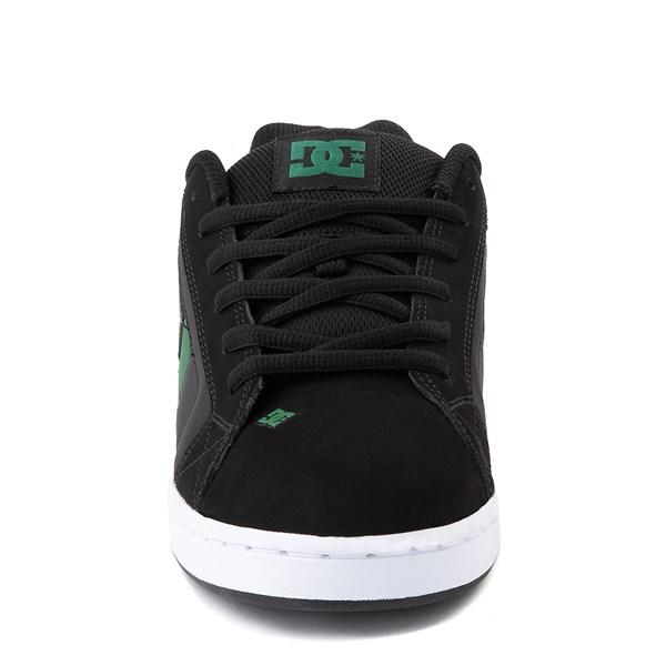 alternate view Mens DC Net Skate Shoe - Black / GreenALT4