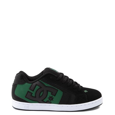 Main view of Mens DC Net Skate Shoe - Black / Green