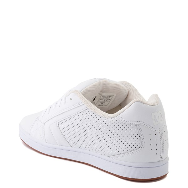 alternate view Mens DC Net Skate Shoe - White / GumALT2