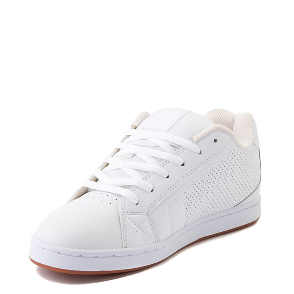 alternate view Mens DC Net Skate Shoe - White / GumALT3