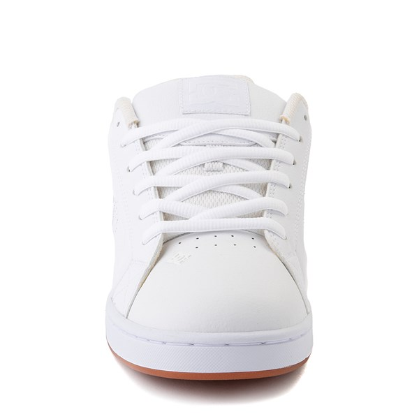 alternate view Mens DC Net Skate Shoe - White / GumALT4