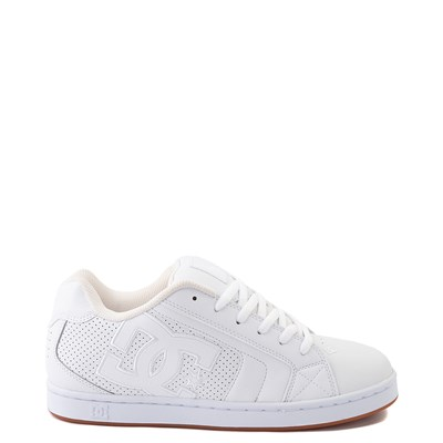 Main view of Mens DC Net Skate Shoe - White / Gum