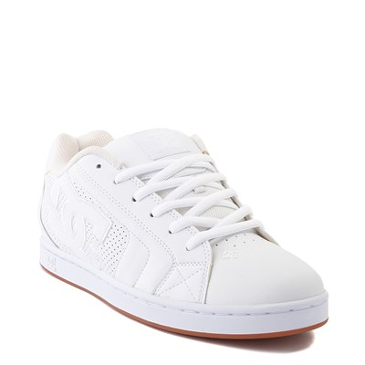Alternate view of Mens DC Net Skate Shoe - White / Gum
