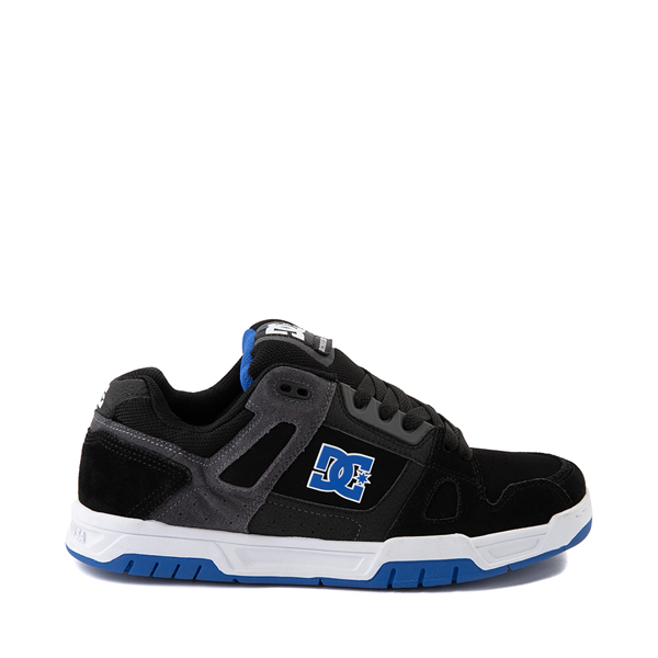 Mens DC Stag Skate Shoe - Black / Blue