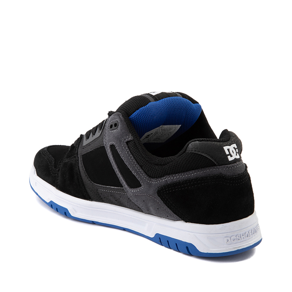alternate view Mens DC Stag Skate Shoe - Black / BlueALT1