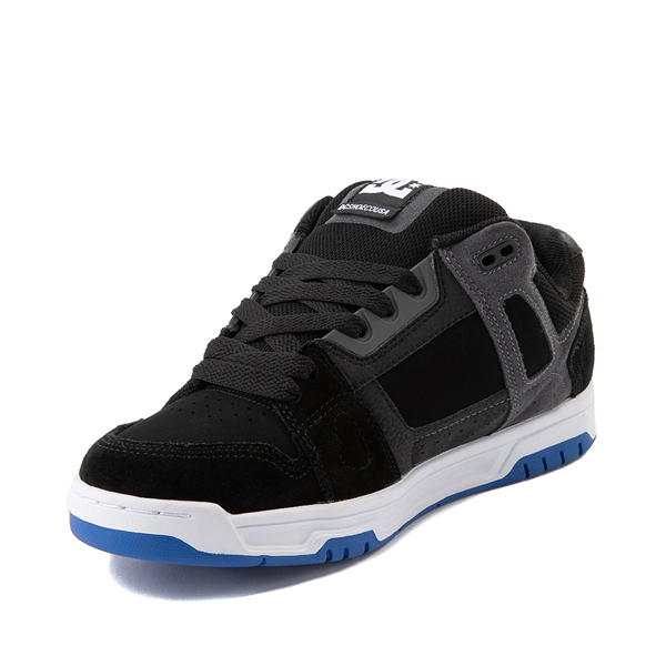 alternate view Mens DC Stag Skate Shoe - Black / BlueALT2