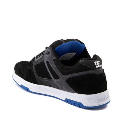 Alternate view of Mens DC Stag Skate Shoe - Black / Blue