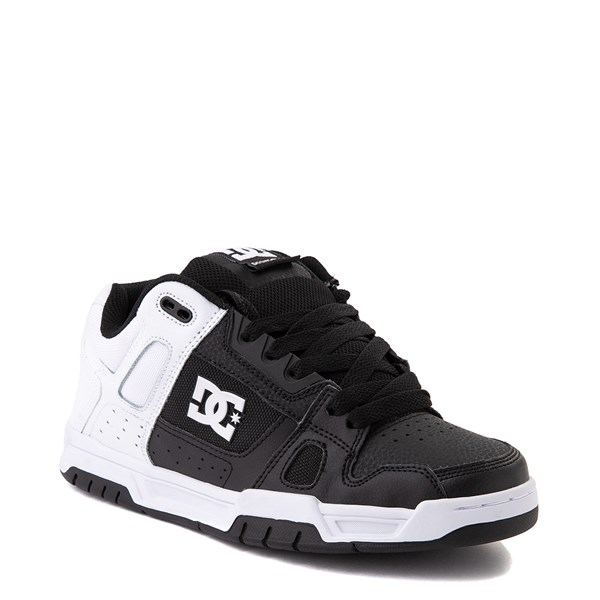 alternate view Mens DC Stag Skate Shoe - White / BlackALT1