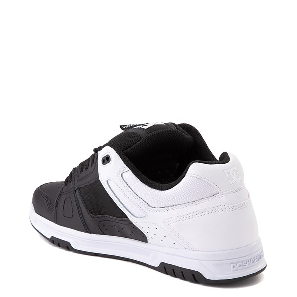 alternate view Mens DC Stag Skate Shoe - White / BlackALT2