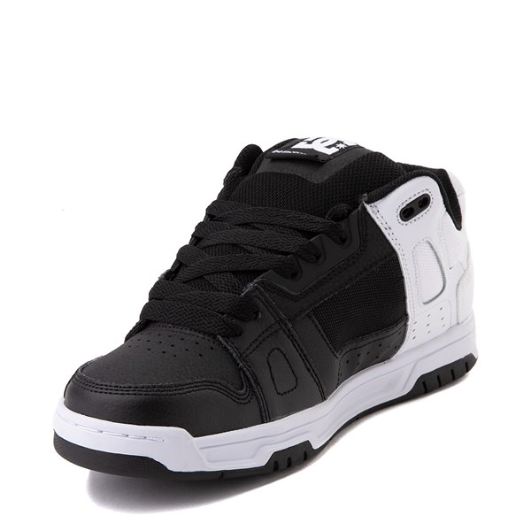 alternate view Mens DC Stag Skate Shoe - White / BlackALT3