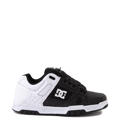 Main view of Mens DC Stag Skate Shoe - White / Black