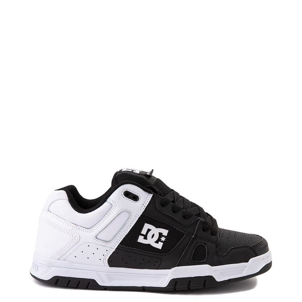Mens DC Stag Skate Shoe - White / Black