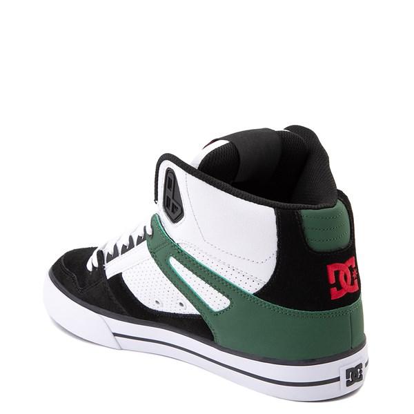 alternate view Mens DC Pure Hi SE Skate Shoe - White / Green / BlackALT2