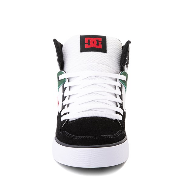 alternate view Mens DC Pure Hi SE Skate Shoe - White / Green / BlackALT4
