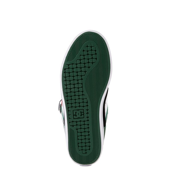 alternate view Mens DC Pure Hi SE Skate Shoe - White / Green / BlackALT5